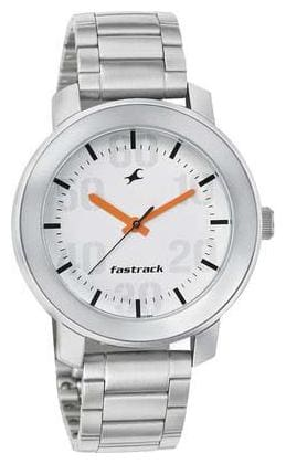 Fastrack 3121SM01 Silver Round Analog Watch
