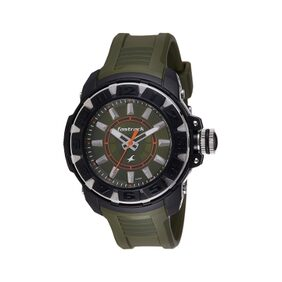 fastrack green silicon Men Analog Watch