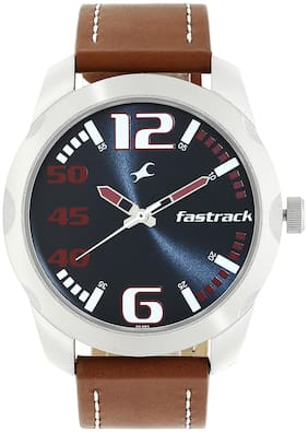 Fastrack Watch with Brown Stainless Steel Strap for Guys