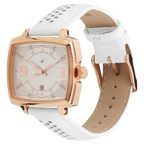 fastrack white lether Women Analog Watch