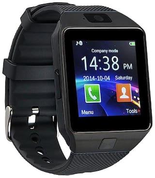 Fellkon DZ09 Unisex 40 mm Black Smart Watch