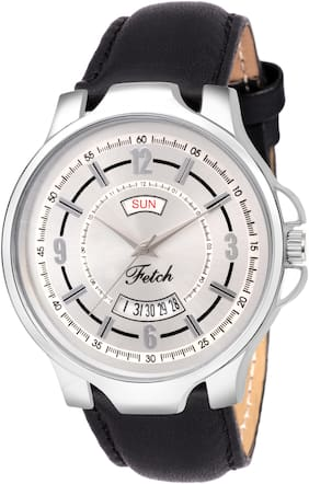 FETCH Analogue Silver Dial Day and Date Men's & Boy's Watch FW-0104
