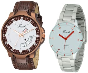 Fetch Analog Dial Men'S And Women'S Watch - Combo Of 2 Fw-047