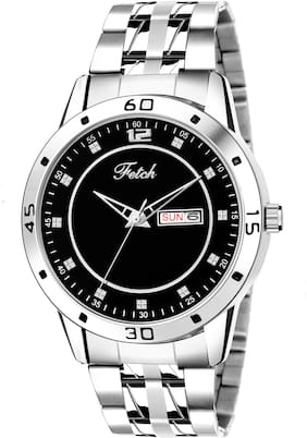 FETCH Analog Black Dial Formal Day And Date Display Watch For Men FW-0134