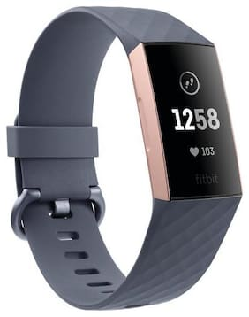 Fitbit Charge 3 Fitness Activity Tracker (Rose Gold and Blue Grey)