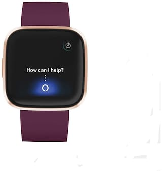 Fitbit Versa 2 Health & Fitness Smartwatch with Heart Rate;Music;Alexa Built-in;Sleep & Swim Tracking;Bordeaux