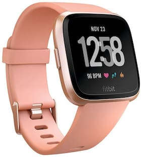 Fitbit Versa Health and Fitness Smartwatch Onesize Unisex - peach