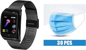 Fitmove Free 30 Pics Mask With Metal Wrist Band For Men