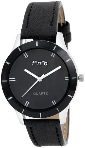FNB Black Dial Analouge Watch For women Fnb-0103