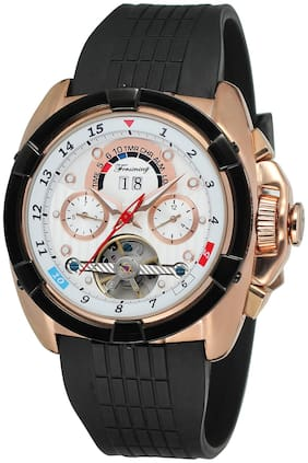 Forsining Tourbilion Multi Function Designer Automatic Mechanical Analog Multicolor Dial Men's Watch-FSG291M3T2