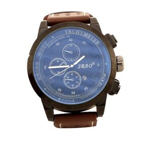 Forst Black & Brown Leather Strap Chronograph Watch for Men