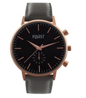 Forst Grey Leather Strap Analogue Watch for Women