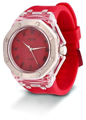Forst White & Red Waterproof Analogue Watch for Men