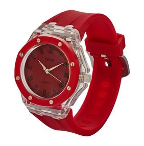 Forst White & Red Waterproof Analogue Watch for Women