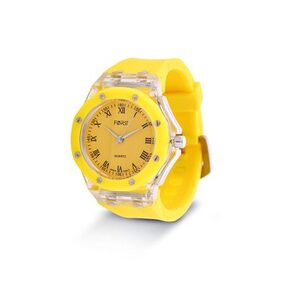 Forst White & Yellow Waterproof Analogue Watch for Women