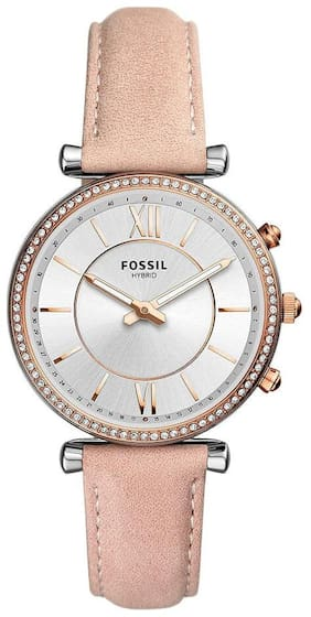 Fossil Carlie Silver Dial Women's Hybrid Smartwatch-FTW5039