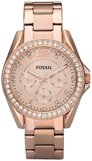 Fossil ES2811I Women Rose Gold Analog Watch