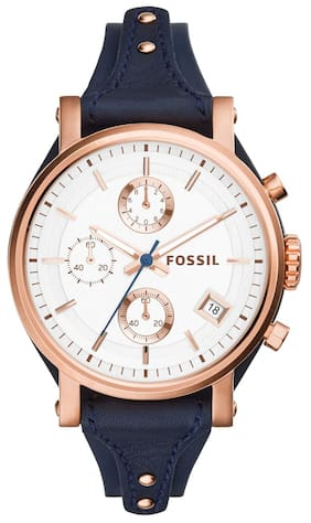 Fossil ES3838I Women Blue Chronograph Watches