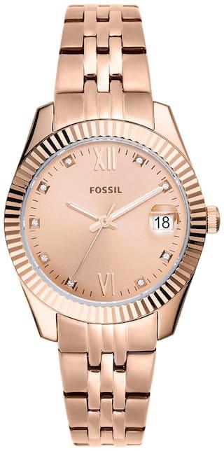 Fossil ES4898 Women Rose Gold Analog Watch