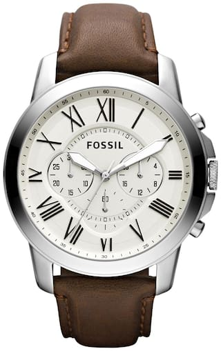 Fossil FS4735I Men Brown Analog Watches