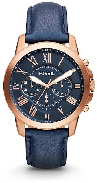 Fossil FS4835I Men Blue - Chronograph Watch