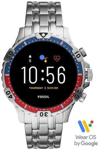 Fossil Garrett HR Silver Smartwatch FTW4040