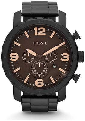 Fossil JR1356 Men Black Chronograph Watches