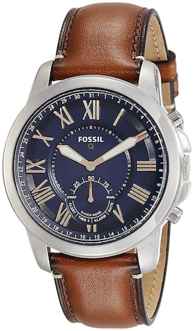 Fossil Q Grant Gen 2 Hybrid Smartwatch, Light Brown Leather-FTW1122