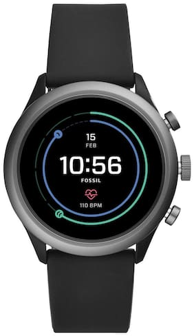 Fossil Men's Sport Metal and Silicone Touchscreen Smartwatch with Heart Rate, GPS, NFC, and Smartphone Notifications (Model Id: FTW4019)