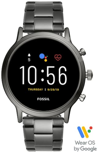 Fossil Gen 5 Carlyle Stainless Steel Touchscreen Smartwatch with Speaker, Heart Rate, GPS, NFC, and Smartphone Notifications-FTW4024