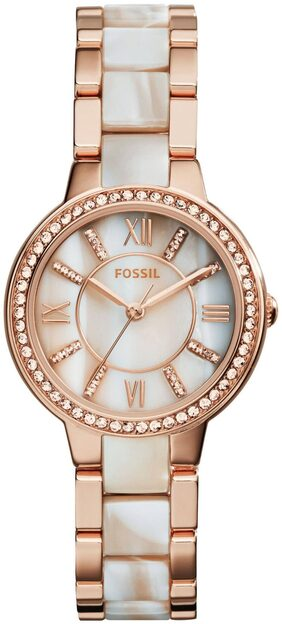 Fossil Virginia Analog Mother Of Pearl Dial Women's 'S Watch ES3716