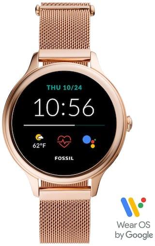 Fossil FTW6068 Women 42 mm Rose Gold Smart Watch