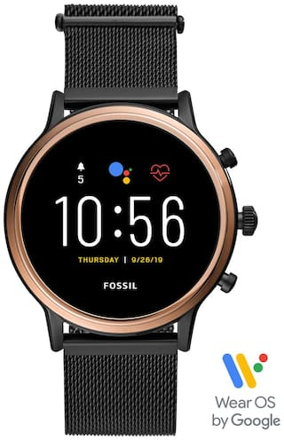 Fossil Gen 5 Julianna Stainless Steel Touchscreen Smartwatch with Speaker  Heart Rate  GPS  NFC  and Smartphone Notifications-FTW6036