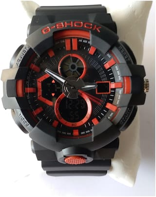 G Shock Red Attractive Analoge And Digital Watch For Men