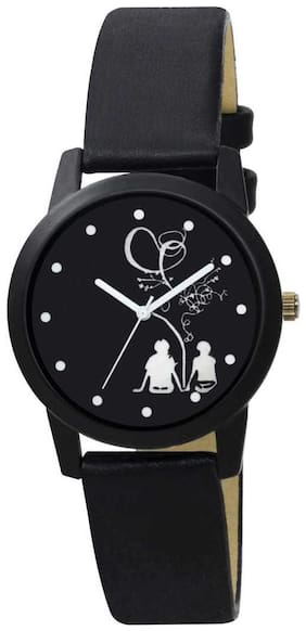 Gabani Fabric Unique Dial in Tree Couple Black Watch For_Women