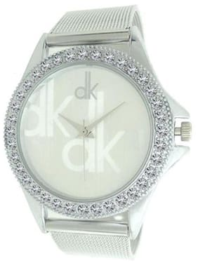 Gabani Fabrics Silver Dial Watch for Womens and Girls(Pack Of 3)