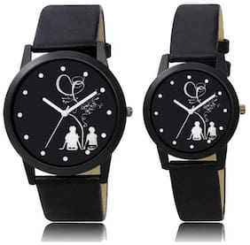 Gabani Fabric New Unique Stylish Dial in Tree Couple Black Watch_For_Men&Women