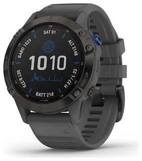 Garmin Fenix 6 Pro Solar Gray Black Smartwatch