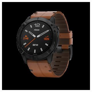 Garmin Fenix 6X Sapphire Unisex 51 mm Brown Smart Watch