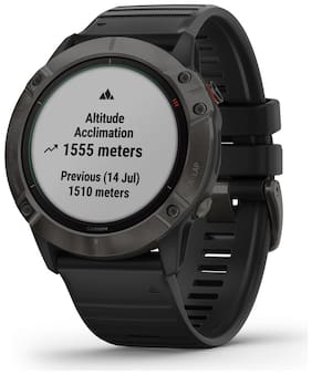 Garmin fenix 6X Pro Solar  Carbon Grey DLC with Black Band