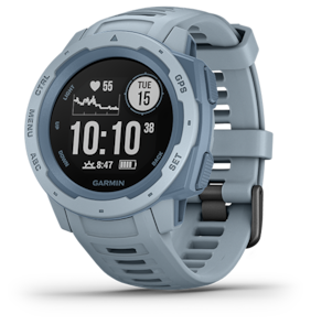 Garmin  INSTINCT Rugged, Outdoor GPS smart Watch; Seafoam Light Blue