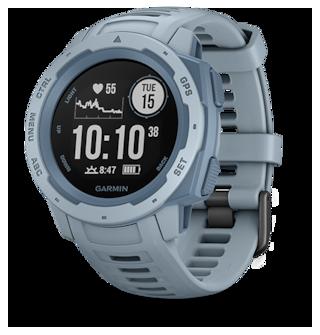 Garmin  INSTINCT Rugged, Outdoor GPS smart Watch; Seafoam Light Blue