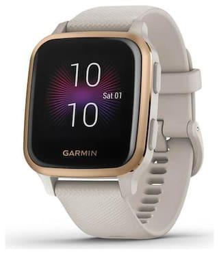 Garmin Venu Square Music Light Sand Rose Gold Smart Watch For Unisex