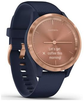 Garmin vivomove 3S Rose Gold Navy Silicone Smart watch For Unisex