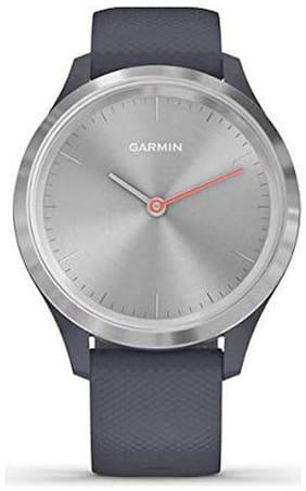 Garmin vivomove 3S Silver Granite Grey Silicone Smart watch For Unisex