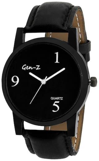 GEN-Z Heavy Dial Black Dial Black Strap Analog Watch
