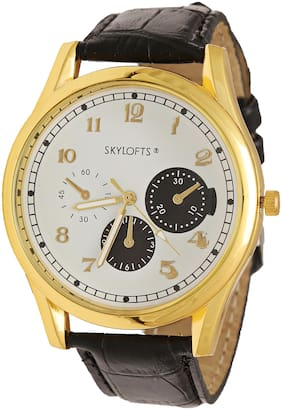 Skylofts Men's Classic Analog Wristwatch (Black) (NO Box Included)