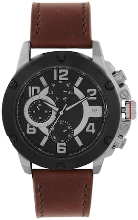 Gio Collection Multifunctional Black Dial Men's Watch