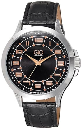 Gio Collection Analog Black Dial Men's Watch