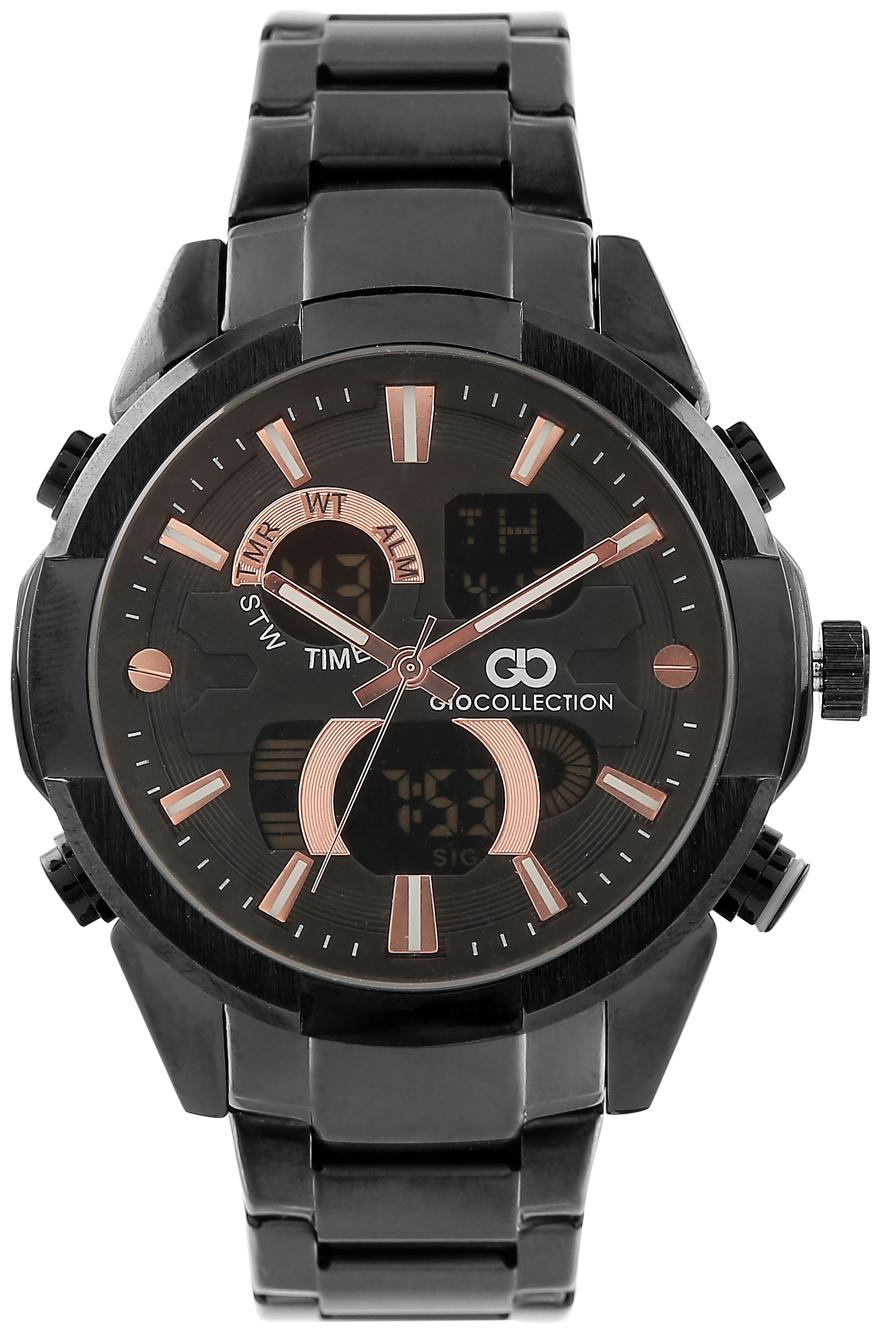 Gio Collection Analog Digital Black Dial Men's Watch